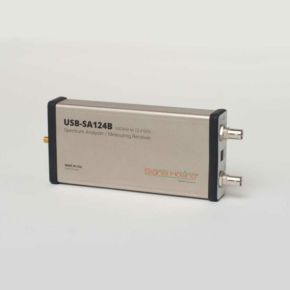 The USB-SA124B Spectrum Analyzer offers analysis up to 12.4 GHz