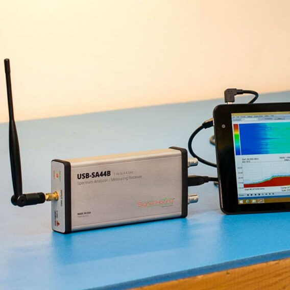 USB-SA44B Spectrum Analyzer from Signal Hound (tablet not included)