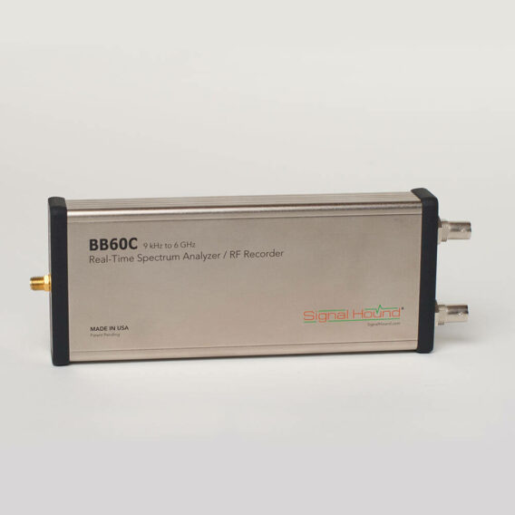 The Signal Hound BB60C is a real time spectrum analyzer and RF recorder