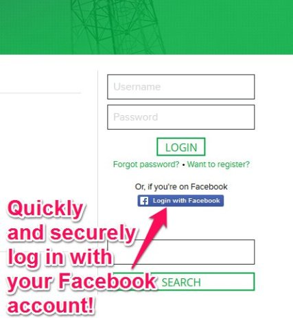 Sign in with your Facebook account