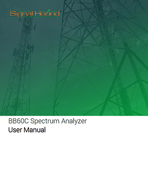 BB60C Spectrum Analyzer User Manual