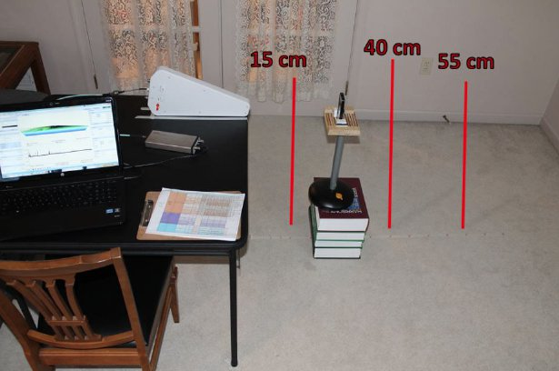 An image from the report, showing Michael's research setup