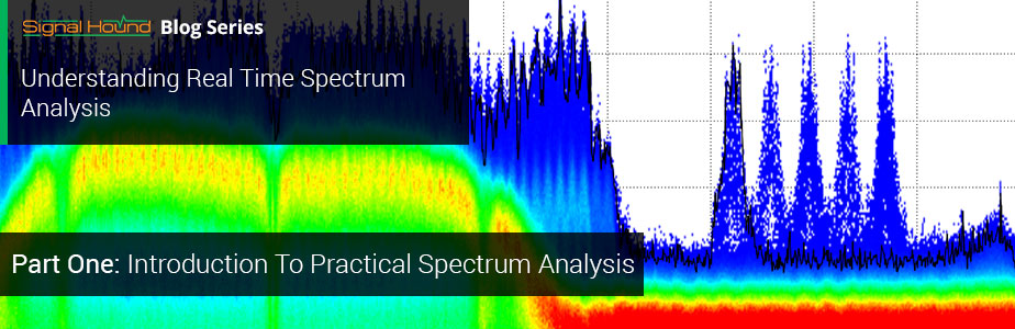 spectrum on an analyzer display