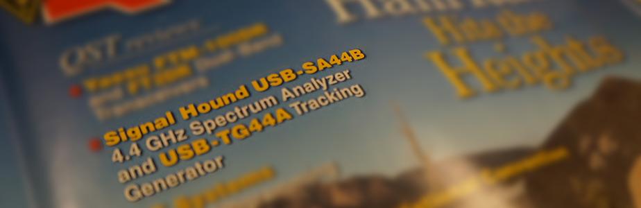 qst magazine review signal hound scalar network analyzer