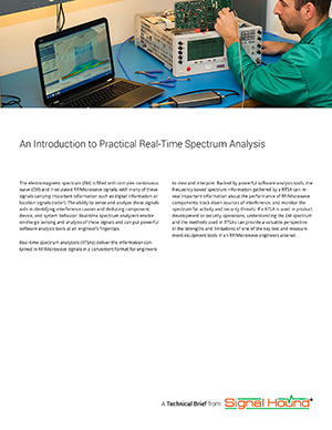 cover of our introduction to real time spectrum analysis tech brief