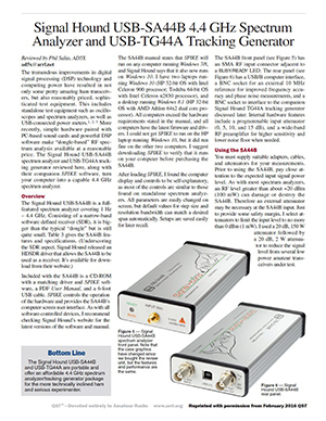 qst magazine review for sa44b and tg44a