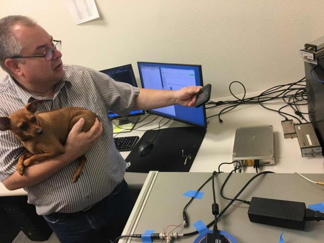 Bruce Devine checking out the new Signal Hound