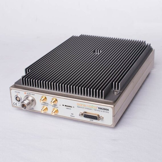 photo of the top of the SM200A 20 GHz spectrum analzyer