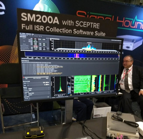 Signal Hound's AOC 2018 booth with SCEPTRE from 3dB Labs