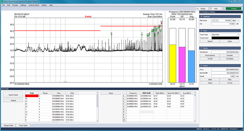 spectrum analyzer software for real time analysis