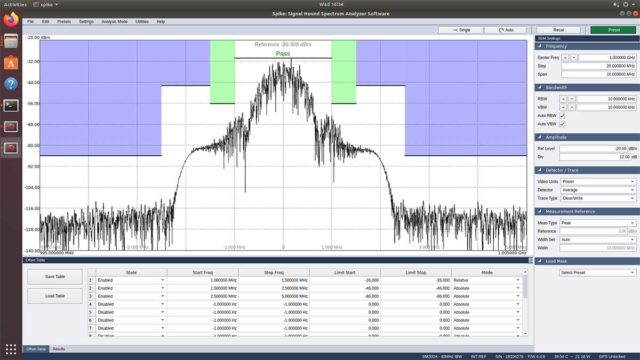 Spike, spectrum analyzer analysis software for Linux
